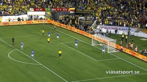 Ecuador snuvade på tre poäng