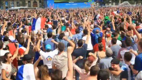 Franska fansens vilda glädje efter vändningen