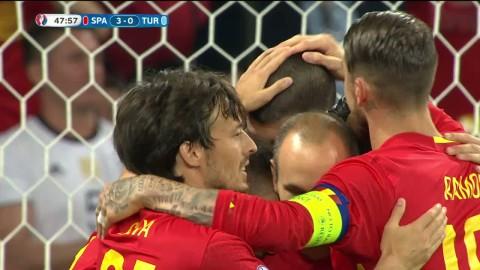 Höjdpunkter: Morata tvåmålskytt i Spaniens 3-0-seger