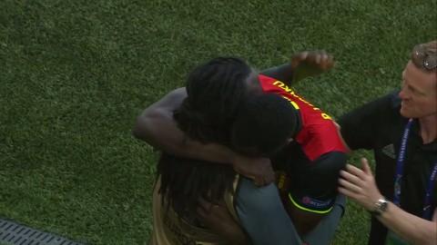 Känslosamt när Lukaku firade målet med brodern