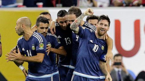 Messi historisk när Argentina vann