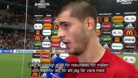 """Morata efter dubbla målen: """"Framför allt är jag glad för att jag får vara med"""""""