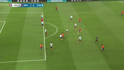 Morata sätter 3-0 trots misstänkt offisde på Iniesta