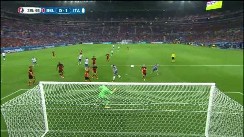 Pellé missar öppet mål för Italien