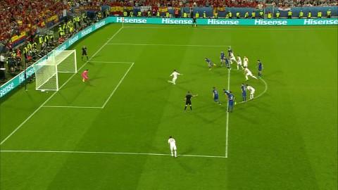 Ramos missar straff - Subasic långt ute från linjen