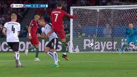 Ronaldo med tungt skott