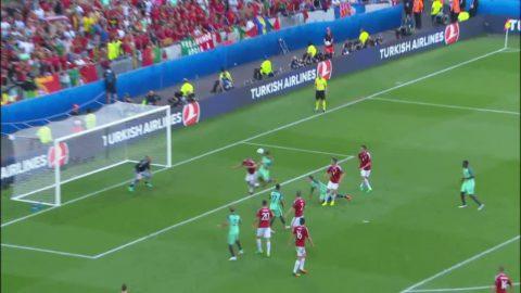 Ronaldo skallar in 3-3 för Portugal - andra målet för dagen