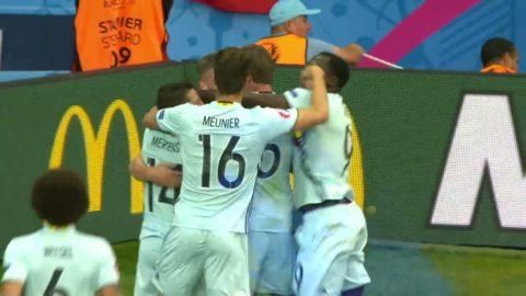 Toby Alderweireld sätter 1-0 till Belgien