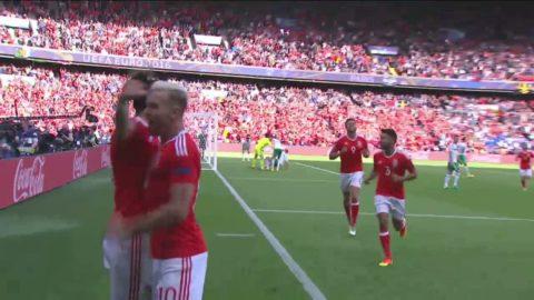 Wales vidare till kvartsfinal! - se höjdpuknterna från matchen