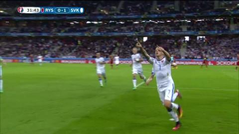 Weiss gör 1-0 till Slovakien