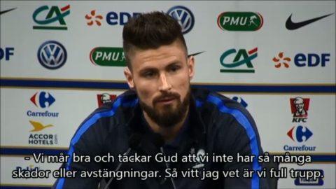 """Giroud: """"Blir en extraordinär match"""""""