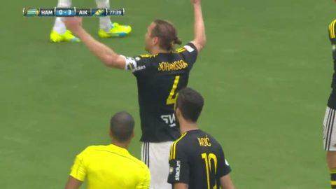 Här eldar AIK-kaptenen på publiken