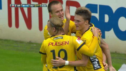 Lasse Nilsson iskall - placerar in 1-0 för Elfsborg