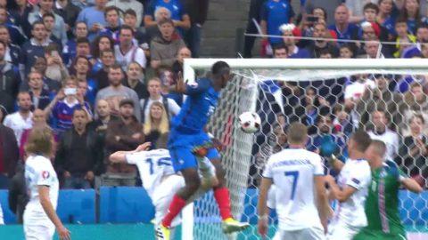 Mardröm för Island - Pogba nickar in 2-0