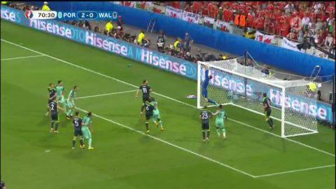 Portugal når högst på hörna - nicken plockas av Hennessey