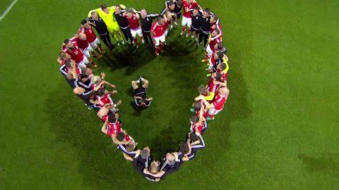 Se Wales firande efter segern mot Belgien
