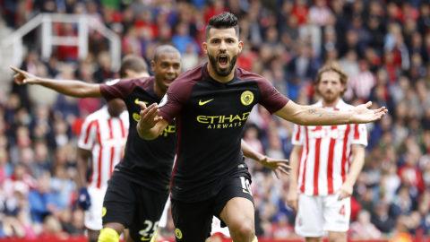 Agüero fortsätter visa storfom  - tvåmålsskytt mot Stoke