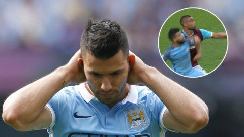 Agüero riskerar avstängning i Manchester-derbyt efter armbågen