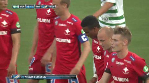 Eliasson ger Norrköping ledningen i cupmötet
