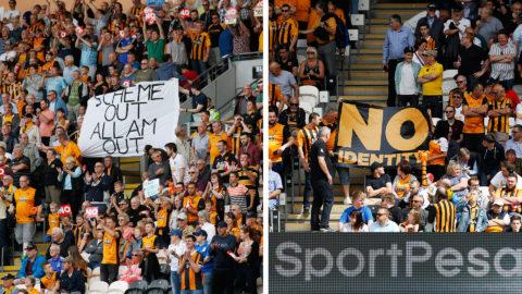 Hull slog regerande mästarna - efter supportrarnas protester