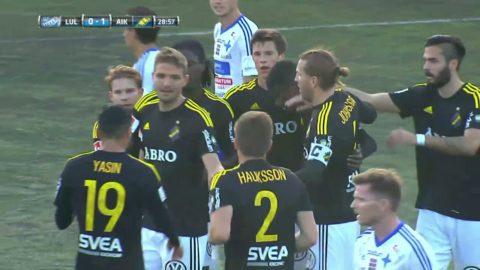Isak sätter AIK:s ledningsmål mot Luleå