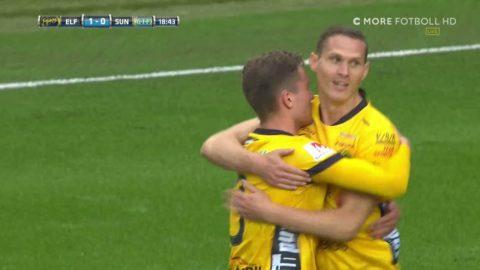 Jönsson nickar in 1-0 för Elfsborg