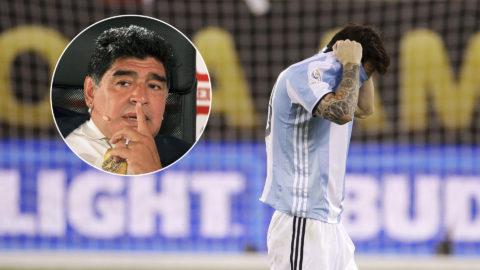 """Maradona tror inte på en återkomst för Messi: """"Aldrig sett så dåligt ledarskap"""""""