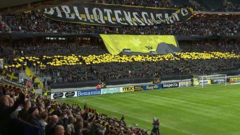 Se AIK:s och Hammarbys mäktiga derbytifo