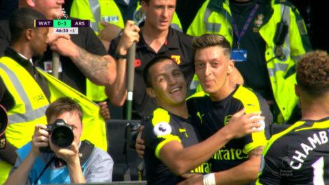 TV: Sanchez och Özil ordnar 3-0 innan halvtid