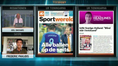 """Franska tidningar: """"Holland är som en stor sjuk kropp och år noll för Sverige"""""""