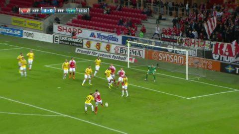 Herman Hallberg ersätter Rasmus Elm - och gör 3-0 för Kalmar
