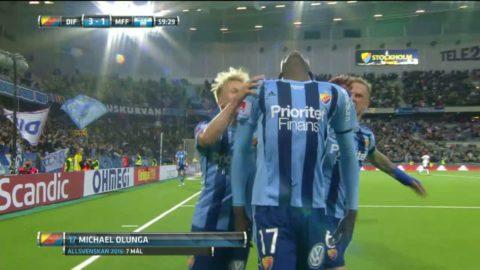 Höjdpunkter: Olunga med dubbla mål när Djurgården besegrade MFF