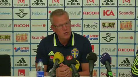 """Janne Andersson: """"Det var lite rostigt"""""""
