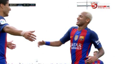 Mål: Barcelona utökar genom Neymar (0-3)