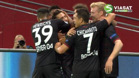 Mål: Bayer Leverkusen tar ledningen på hemmaplan (1-0)