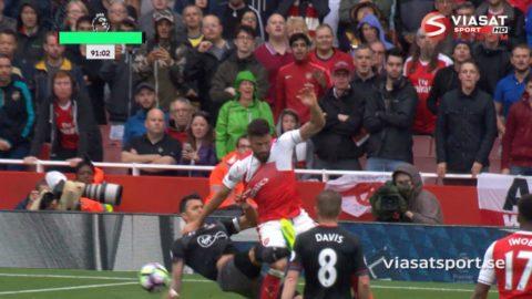 Mål: Cazorla säkrar segern för Arsenal (2-1)