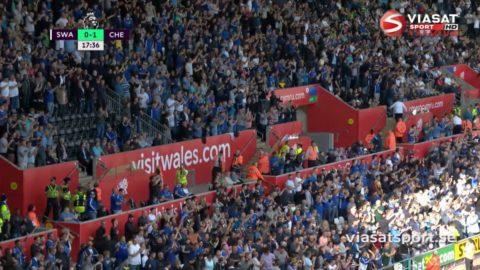 Mål: Costa öppnar målskyttet mot Swansea (0-1)