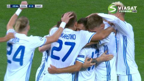 Mål: Dynamo Kiev tar ledningen på hemmaplan (1-0)