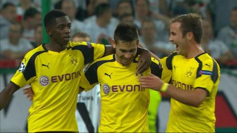 Mål: Guerreiro gör Dortmunds fjärde mål för kvällen (0-4)