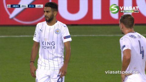 Mål: Mahrez utökar med läcker frispark (0-2)