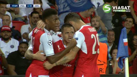 Mål: Sanchez utjämnar för Arsenal (1-1)
