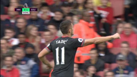 Mål: Southampton tar ledningen på Emirates (0-1)