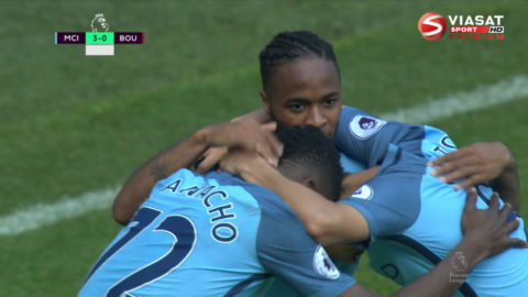 Mål: Sterling trycker in trean för City (3-0)