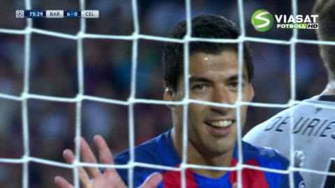 Mål: Suarez dundrar in sitt första för kvällen (6-0)