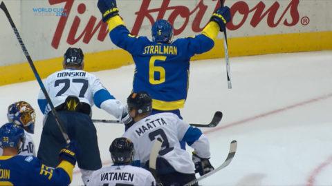 Mål: Sverige tar ledningen mot Finland (1-0)