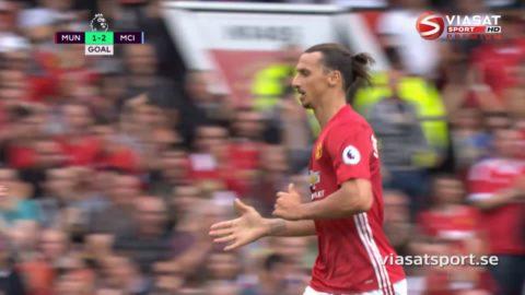 Mål: Zlatan trycker in reduceringen mot City (1-2)
