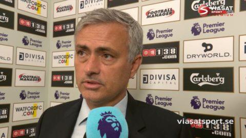 """Mourinho efter förlusten: """"Vi var det bättre laget"""""""