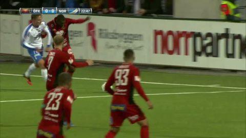 Östersunds första möjlighet mot Norrköping