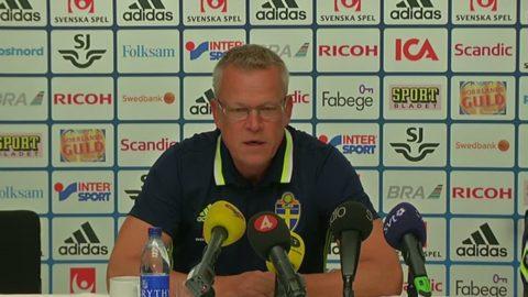 Se hela presskonferensen med Janne Andersson