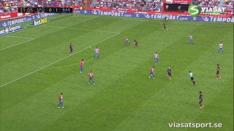 TV: Barcelona körde över Gijon